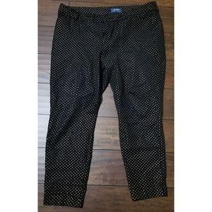 EUC Size 16 Black & Gold Pixie Pant